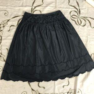 Oscar de lanrenta Black silk taffeta skirt